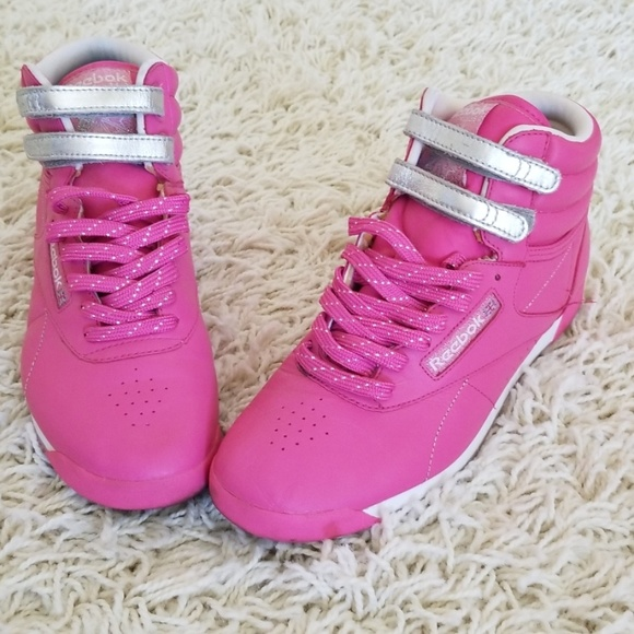 Reebok Shoes | Hot Pink And Silver